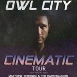 "Owl City Announces ""Cinematic"" North American Tour"