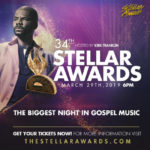 34th Annual Stellar Awards To Premiere on BET Easter Sunday April 21