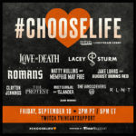 Love and Death and Lacey Sturm to Headline Groundbreaking Suicide Prevention Livestream #ChooseLife on Twitch